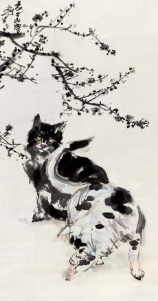 黄胄(1925-1997)  猫