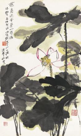何海霞(1908-1998)荷花