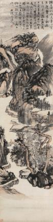 石溪(1612-1692)访友图