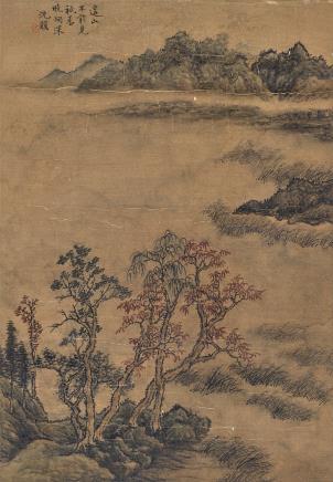沈颢(1586-1661)山水
