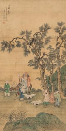 万寿祺(1603-1652)南极呈祥