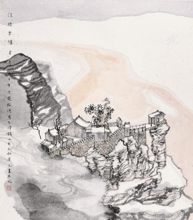 梁  元  佳县香炉古寺