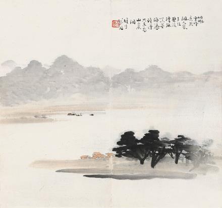 黎雄才(1910-2001)烟树云峰