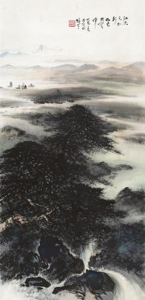 黎雄才(1910-2001)仿王维诗意