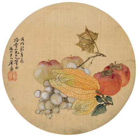 居廉(1828-1904)佛手