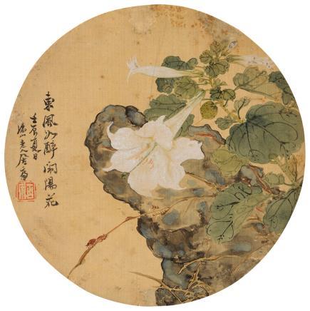 居廉(1828-1904)东风如醉