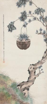 居廉(1828-1904)芳兰图