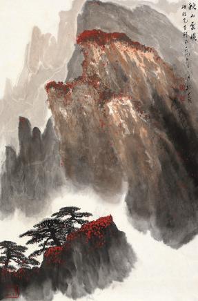 魏紫熙(1915-2002)秋山云横