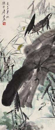 唐云(1910-1993)蜻蜓荷花