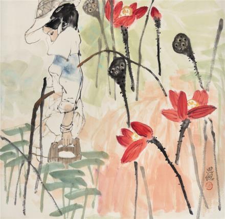 周思聪(1939-1996)少女