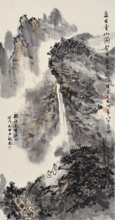 尤无曲(1910-2006)夏日云山图