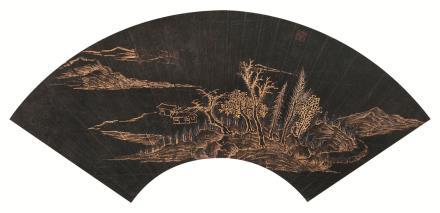 杨晋(1644-1728)山水扇面