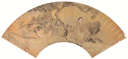 沙馥(1831-1906)仕女图