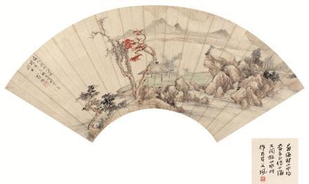 翁雒(1790-1849)山水