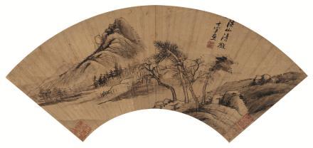 董其昌(1555-1636)山水扇面