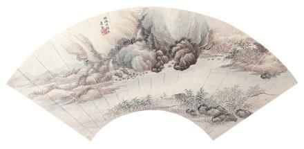 萧逊(1883-1944)仿鸥波馆意