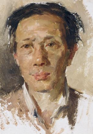 张文新 作曲家郭石夫肖像