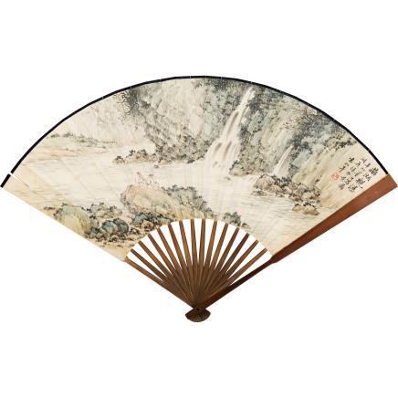 袁松年 (1895-1966) 鼎湖观瀑