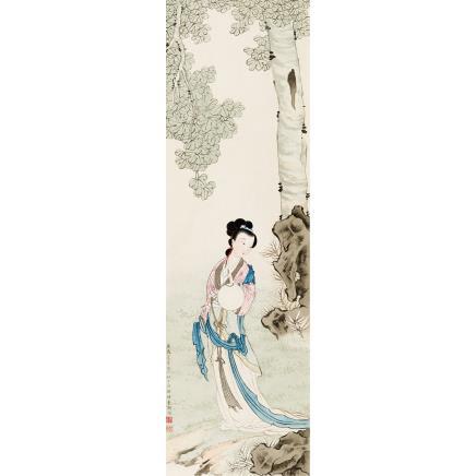 俞明 (1884-1935) 桐荫仕女
