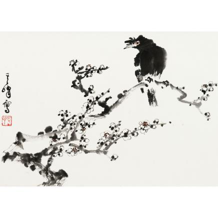 孙其峰 (b.1920) 梅花八哥