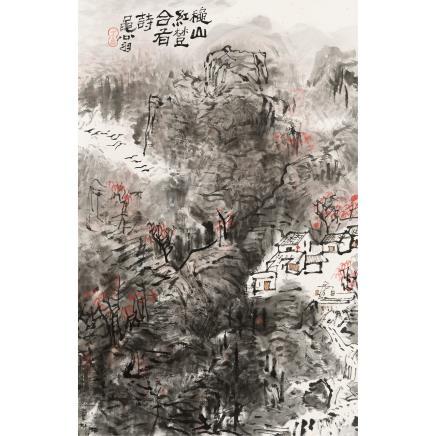 王学仲 (1925-2013) 秋山红树
