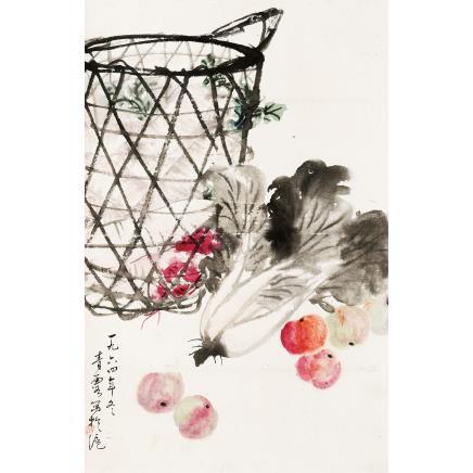 吴青霞 (1910-2008) 蔬果图