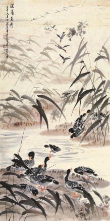 吴青霞(1910-2008)深芦息影