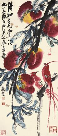 齐白石(1864-1957)多寿图