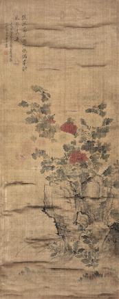 恽寿平(1633-1690)菊石图