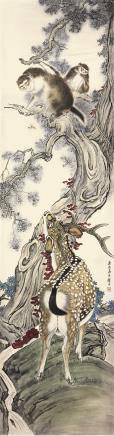 刘奎龄(1885-1967)侯禄寿图
