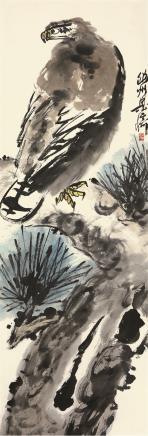 梁崎(1909-1996)鹰