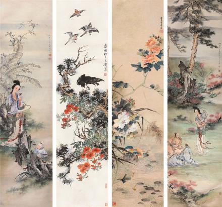王雪涛、王叔晖、吴光宇、管平湖花鸟人物
