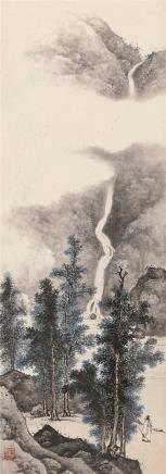 陈少梅(1909-1954)望山图