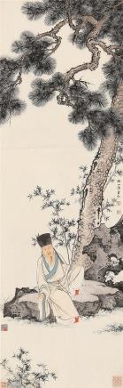 陈少梅(1909-1954)松下高士