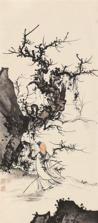 陈少梅(1909-1954)秋林高士图