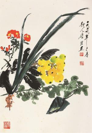 唐云(1910-1993)午瑞图