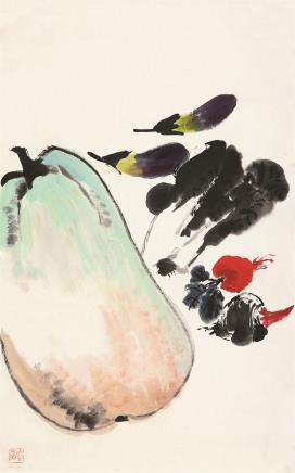 唐云(1910-1993)果蔬图