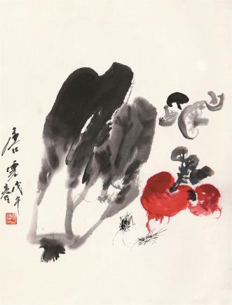 唐云(1910-1993)秋鸣百财
