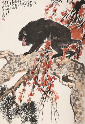 孙其峰(b.1920)封侯图