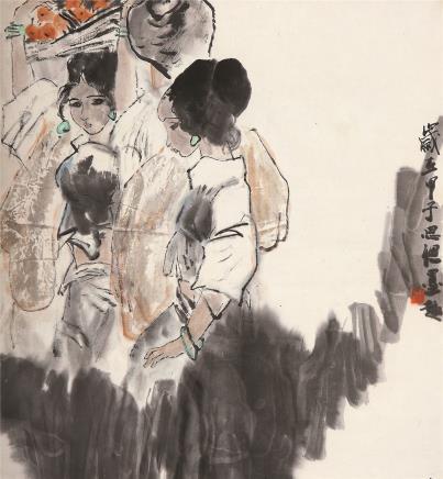 周思聪(1939-1996)傣家少女