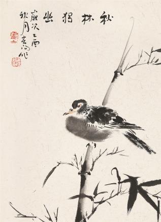 霍春阳(b.1946)秋林独幽