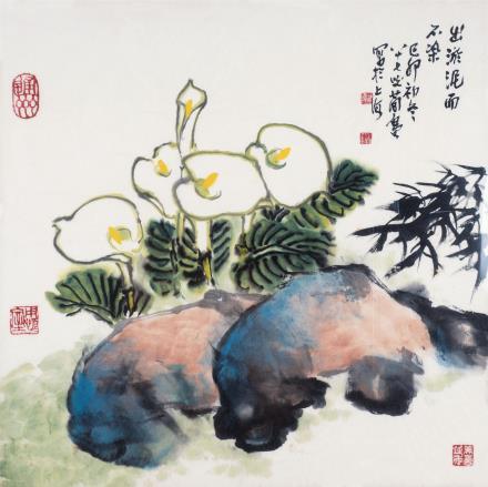 曹简楼 1913-2005出淤泥而不染