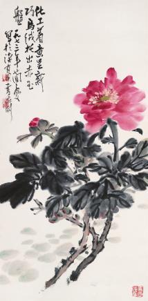 曹简楼 1913-2005牡丹