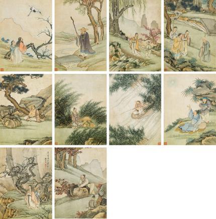 顾见龙(1606-1687后)  高逸图册