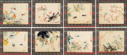 凌叔华(1900-1990)  花卉草虫八帧