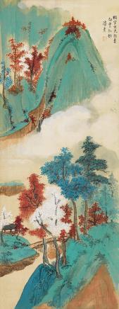 潘素(1915-1992)  白云红树