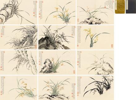 张充和(1914-2015)  幽兰画册
