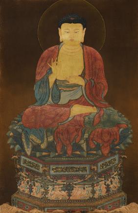 佚名 佛陀说法图