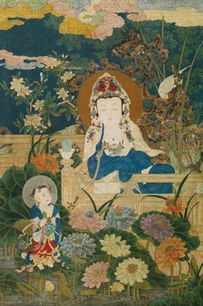佚名 九莲菩萨像