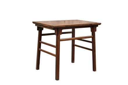 明末清初 黄花梨刀子板起线油桌